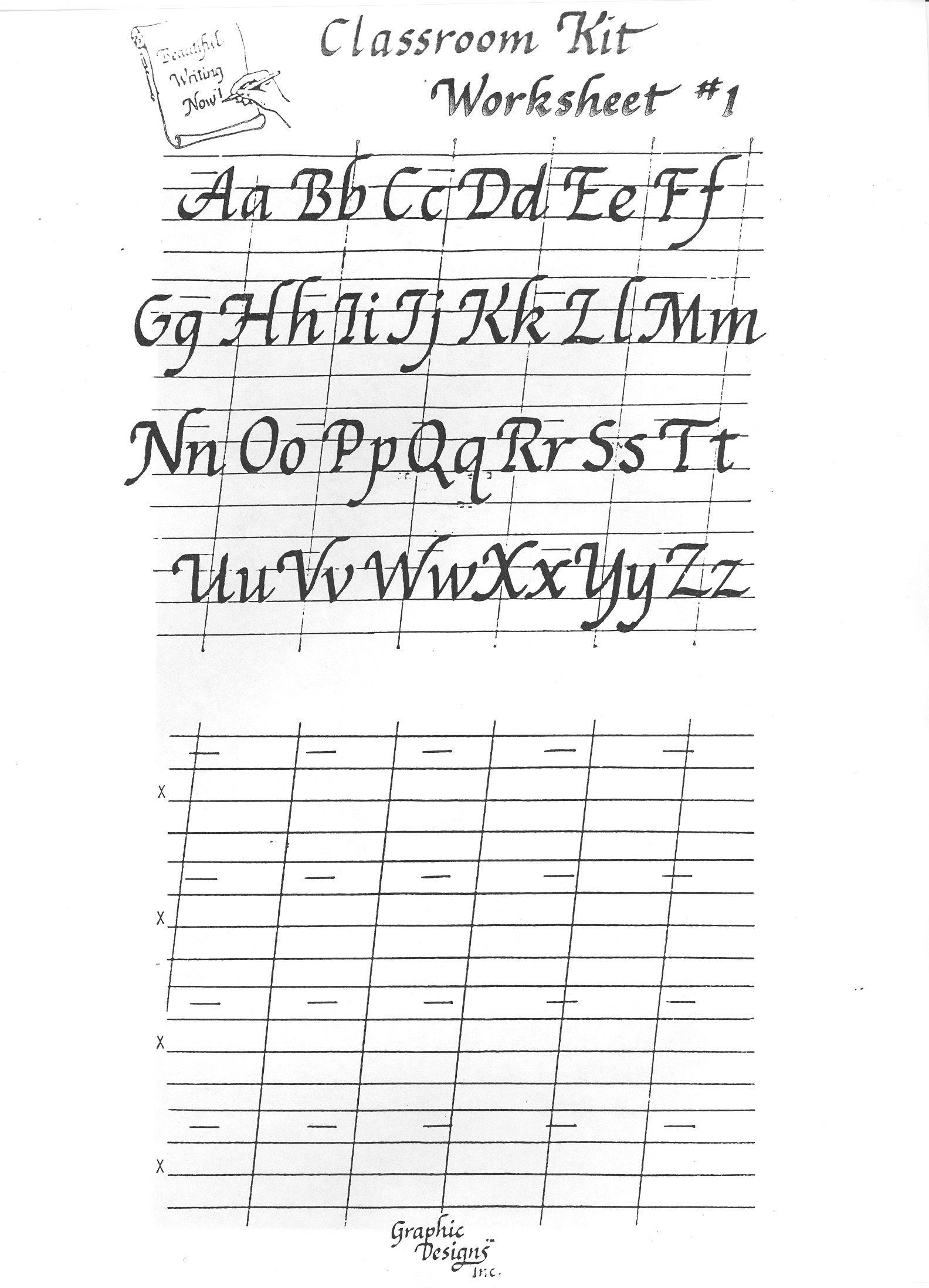 Free Printable Calligraphy Alphabet Practice Sheets   Scrapbooking - Free Printable Calligraphy Worksheets