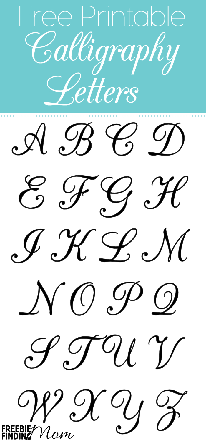 Free Printable Calligraphy Letters | Crafts & Diy Project Ideas - Free Printable Calligraphy Letter Stencils