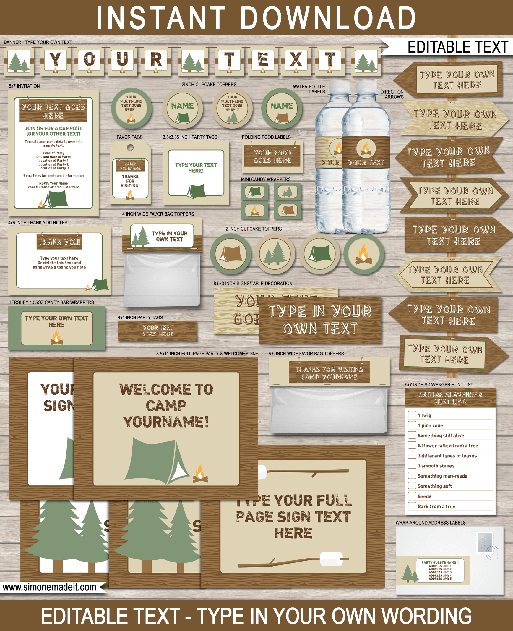 Free Printable Camp Signs | Www.topsimages - Free Printable Camping Signs