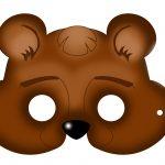 Free Printable Carnival Masks For Kids. | Ideas | Bear Mask, Mask   Free Printable Bear Mask