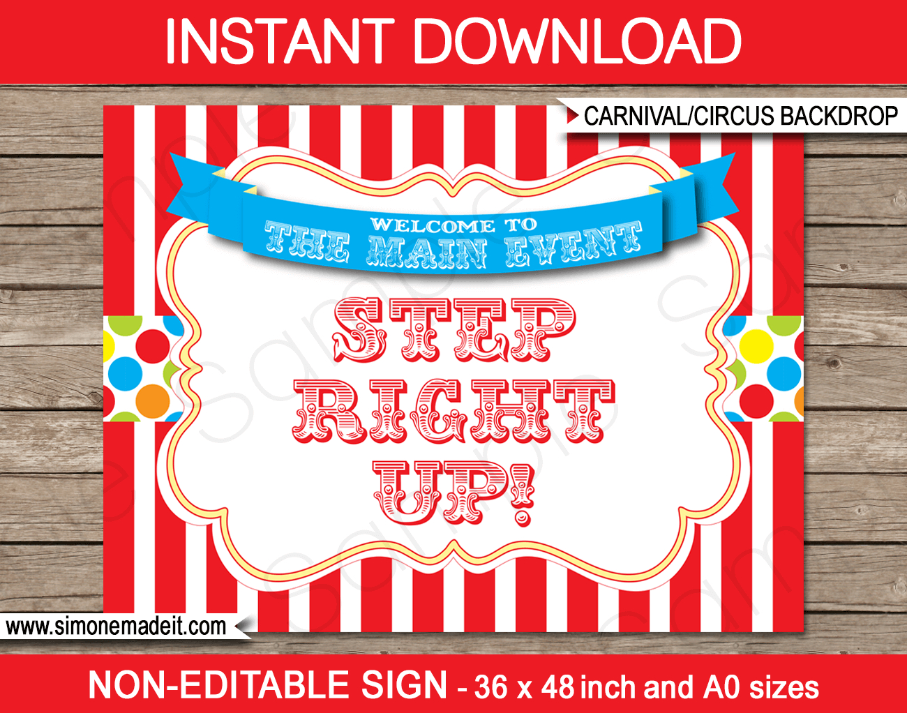 Free Printable Carnival Welcome Sign - 17.12.ybonlineacess.de • - Free Printable Party Signs