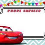 Free Printable Cars 3 Lightning Mcqueen Invitation | Free   Free Printable Disney Cars Water Bottle Labels