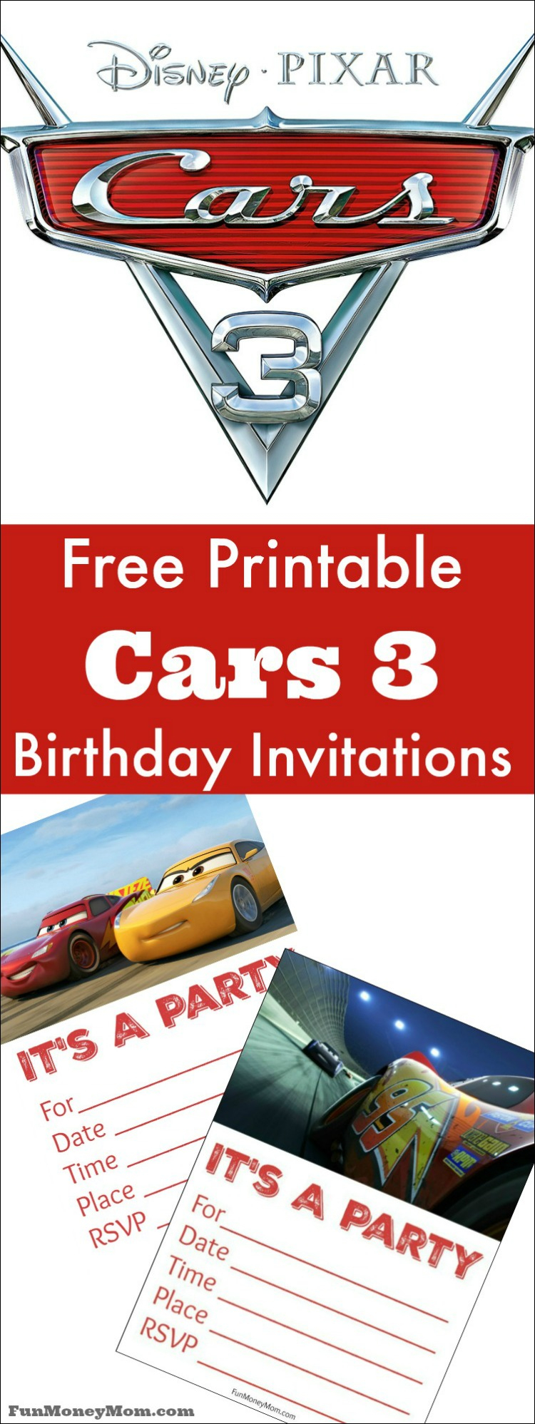 Free Printable Cars Birthday Invitations - Fun Money Mom - Free Printable Disney Cars Birthday Party Invitations
