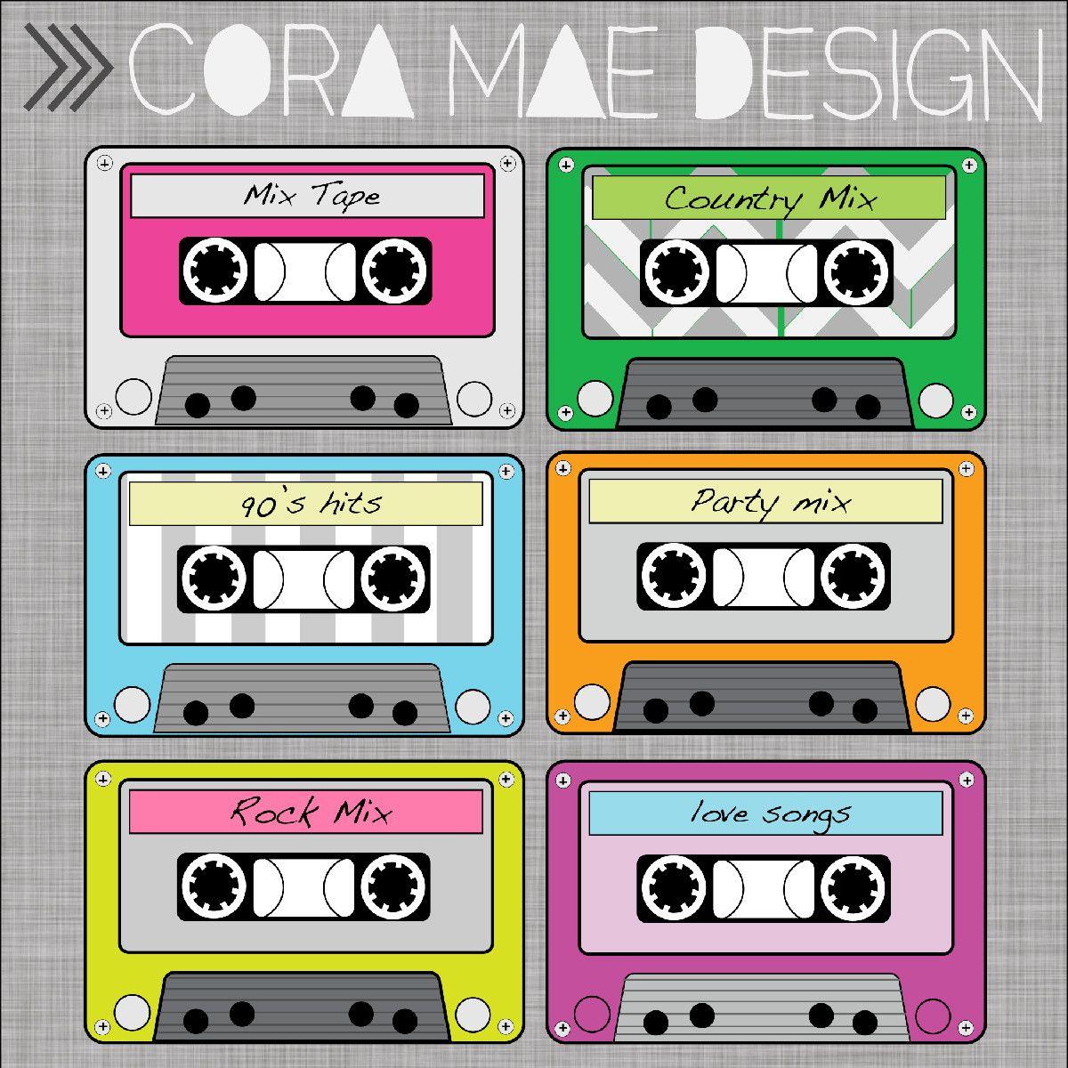 Free Printable Cassette Tape Clipart | Ra Door Decs | Pinterest - Printable 90S Props Free
