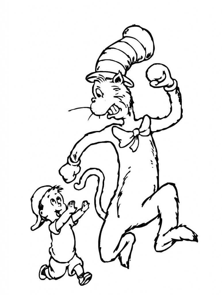 Free Printable Cat In The Hat Coloring Pages For Kids | Movies And - Free Printable Cat In The Hat Pictures