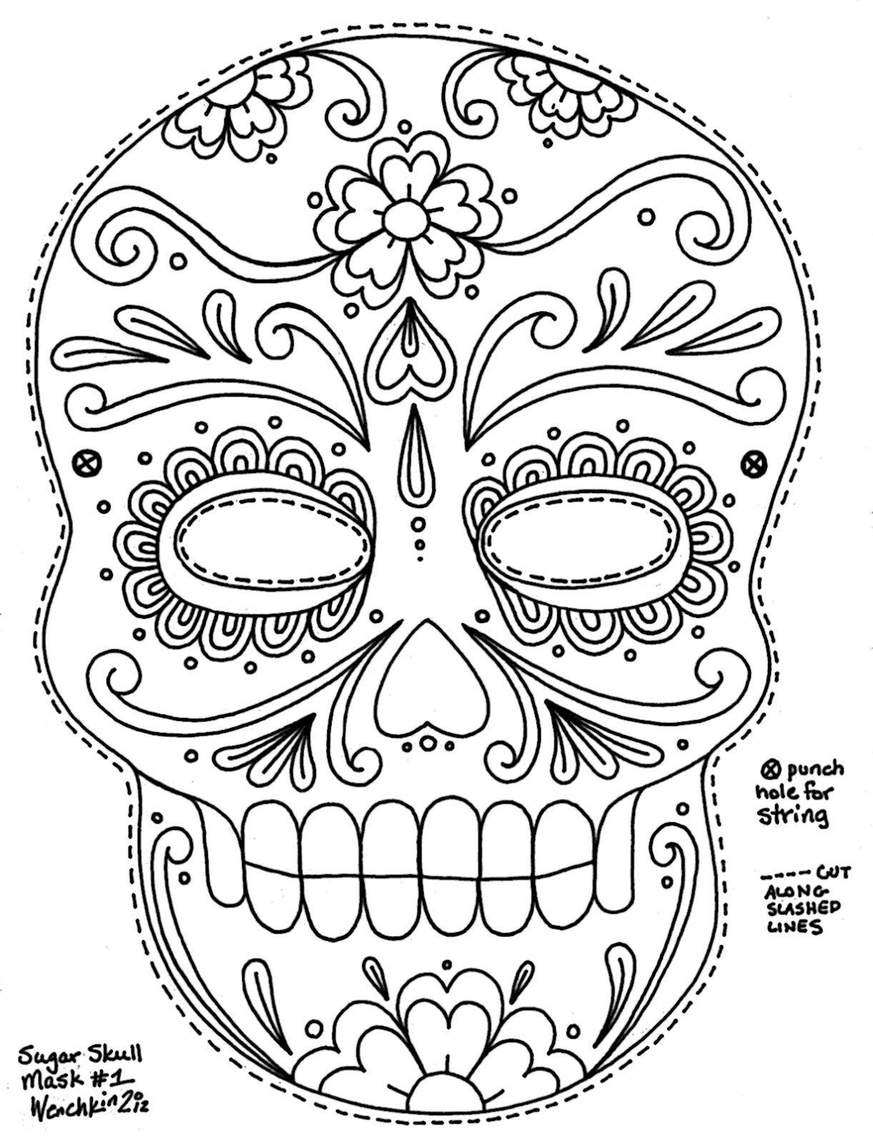 Free Printable Character Face Masks   Seasonal Activities   Skull - Free Printable Halloween Face Masks