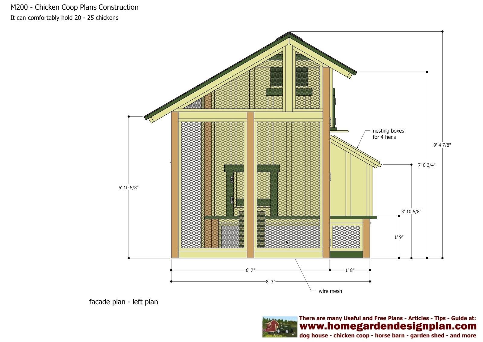 Free Printable Chicken Coop Plans   Bestprintable231118 - Free Printable Chicken Coop Plans