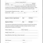 Free Printable Child Medical Consent Form For Grandparents   Form   Free Printable Child Guardianship Forms