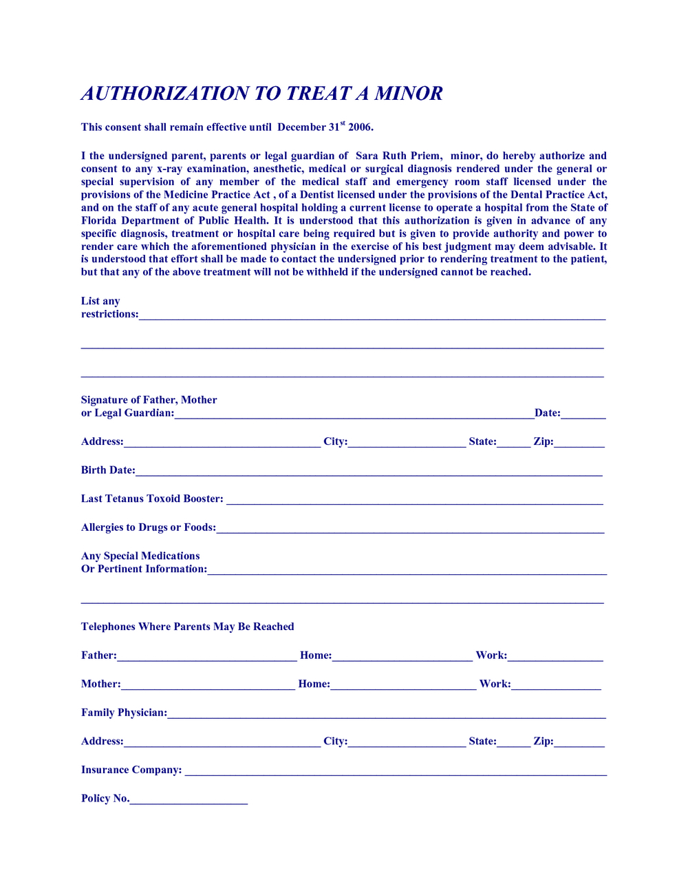 Free Printable Child Medical Consent Form For Grandparents | Mbm Legal - Free Printable Medical Consent Form