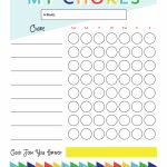Free Printable   Chore Chart For Kids | Ogt Blogger Friends   Free Printable Pictures For Chore Charts