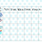 Free Printable Chore Chart   Free Printable Pictures For Chore Charts