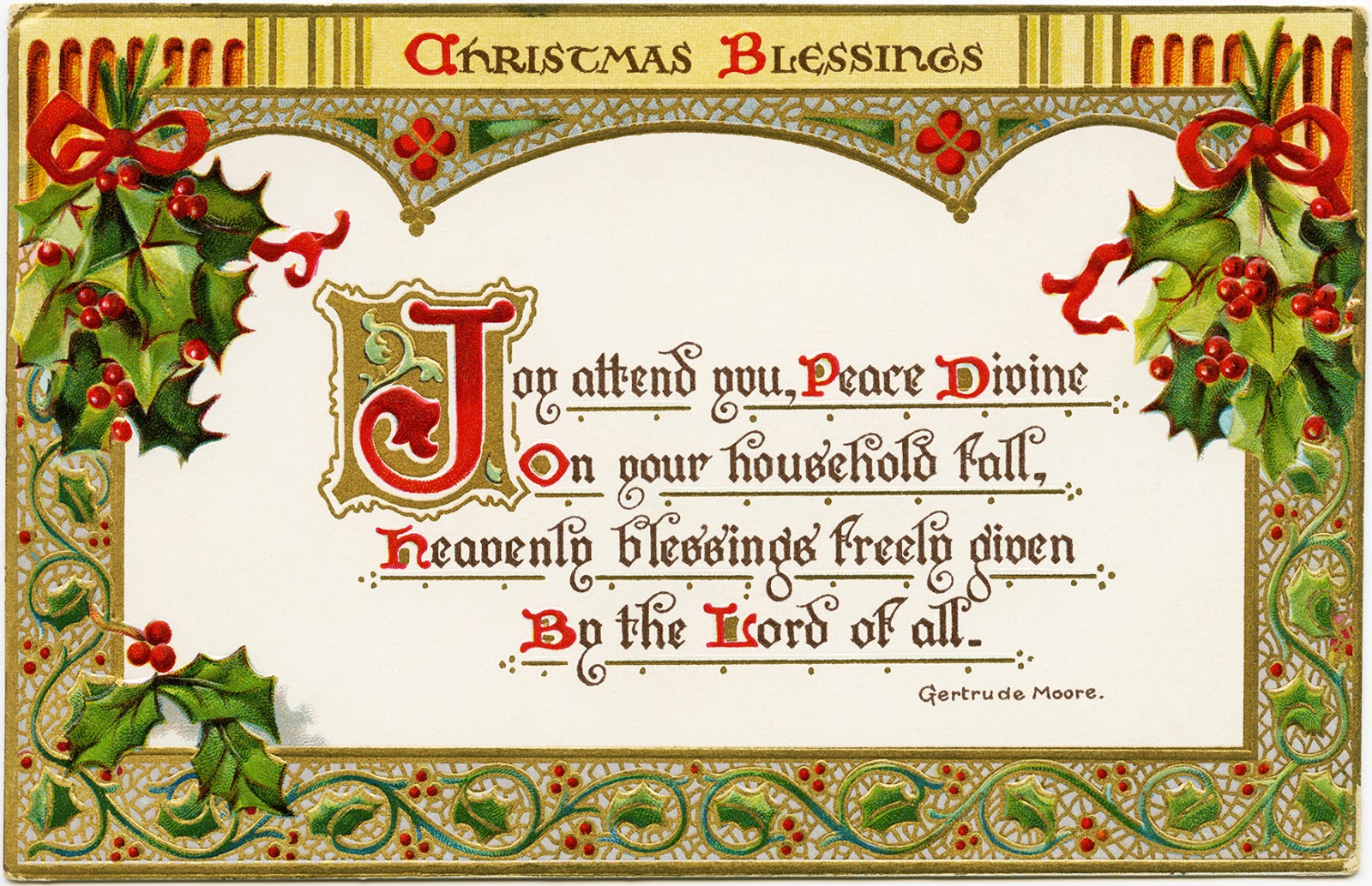 Free Printable Christian Christmas Greeting Cards – Festival Collections - Free Printable Christian Christmas Greeting Cards