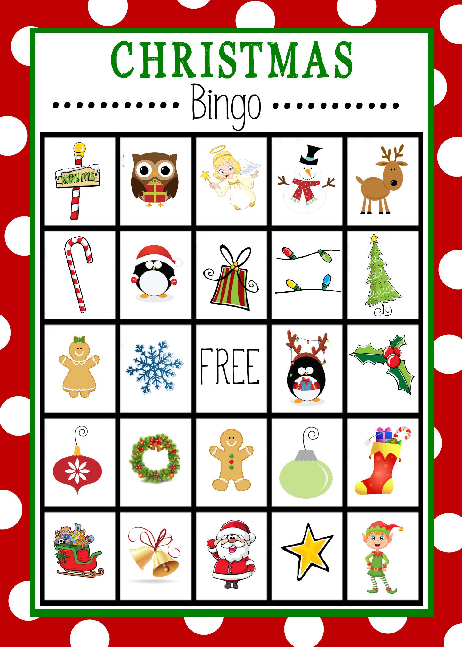 Free Printable Christmas Bingo Game   Christmas   Pinterest - Free Printable Christmas Bingo