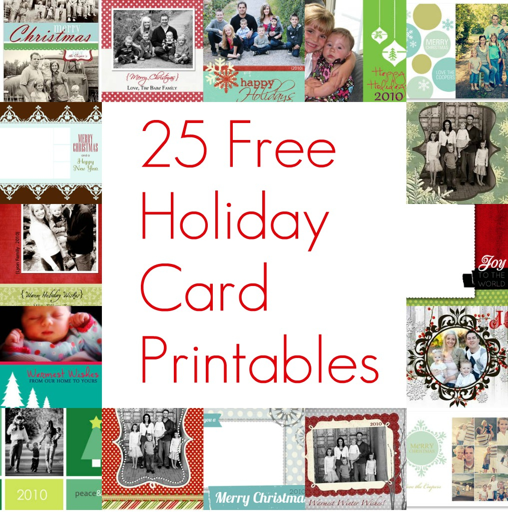 Free Printable Christmas Card Inserts – Happy Holidays! - Free Printable Christmas Cards With Photo Insert