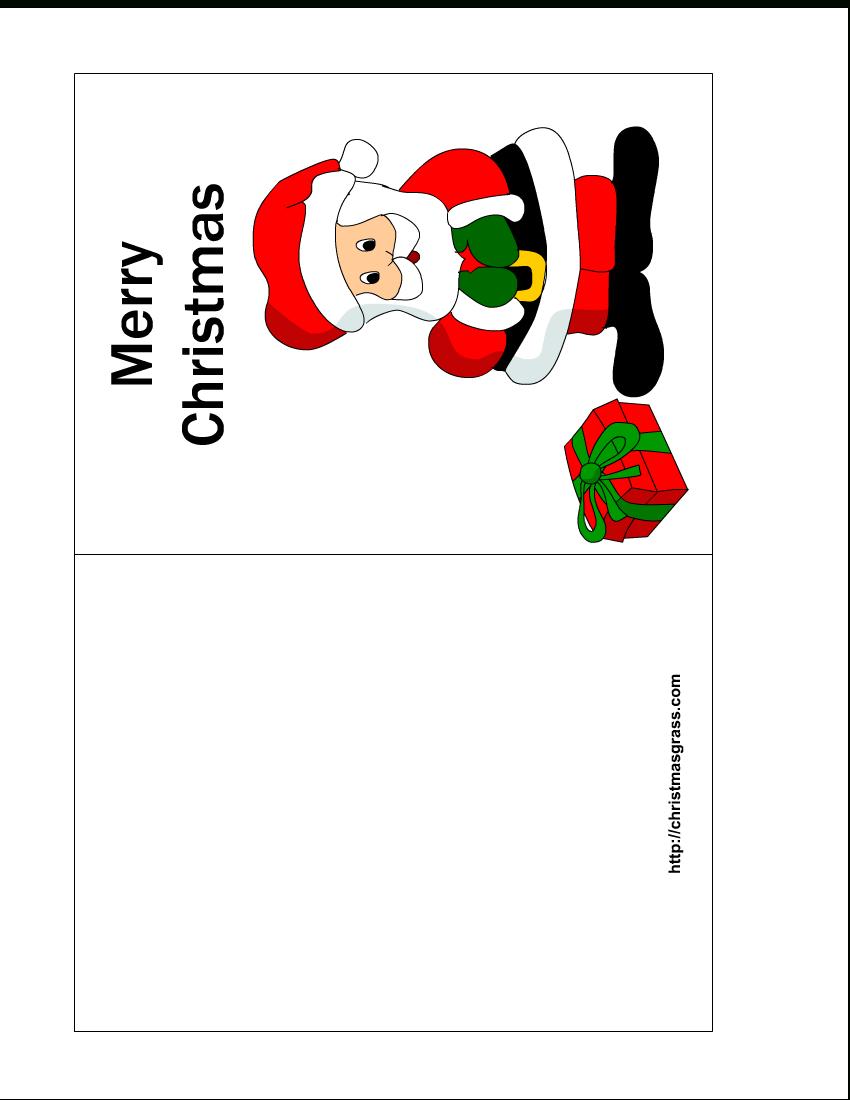 Free Printable Christmas Cards   Free Printable Christmas Card With - Free Printable Christmas Card Templates