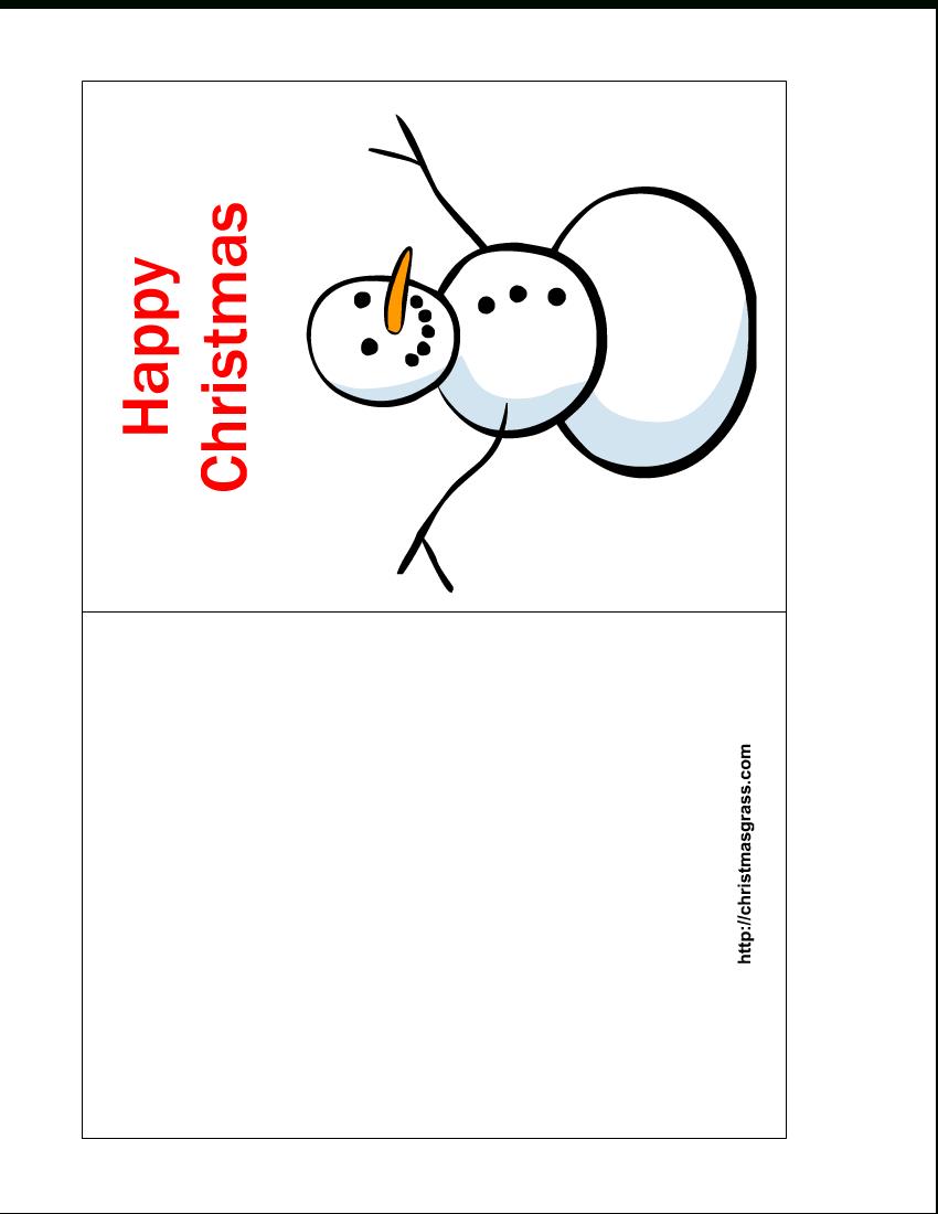 Free Printable Christmas Cards | Free Printable Happy Christmas Card - Free Printable Xmas Cards