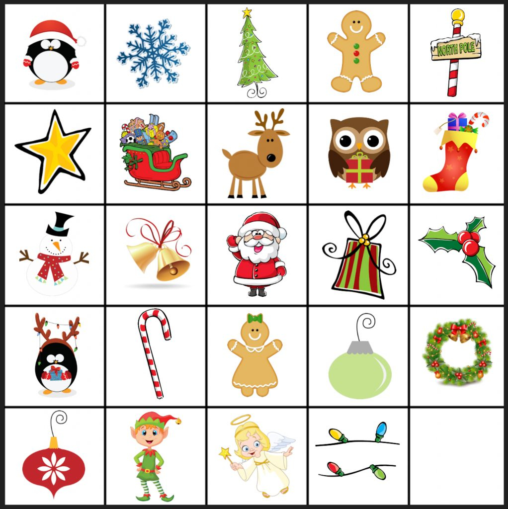 Free Printable Christmas Games: Christmas Matching Game In Free - Free Printable Snap Cards