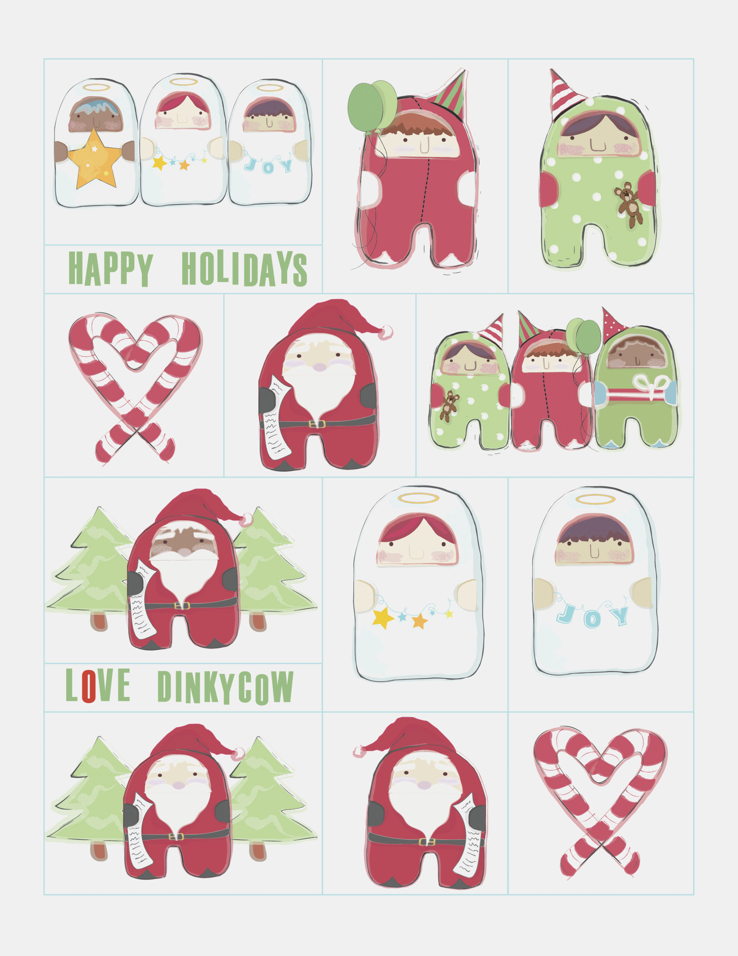 Free Printable Christmas Gift Tags | Dinky Cow – Free Printable - Free Printable Holiday Gift Labels