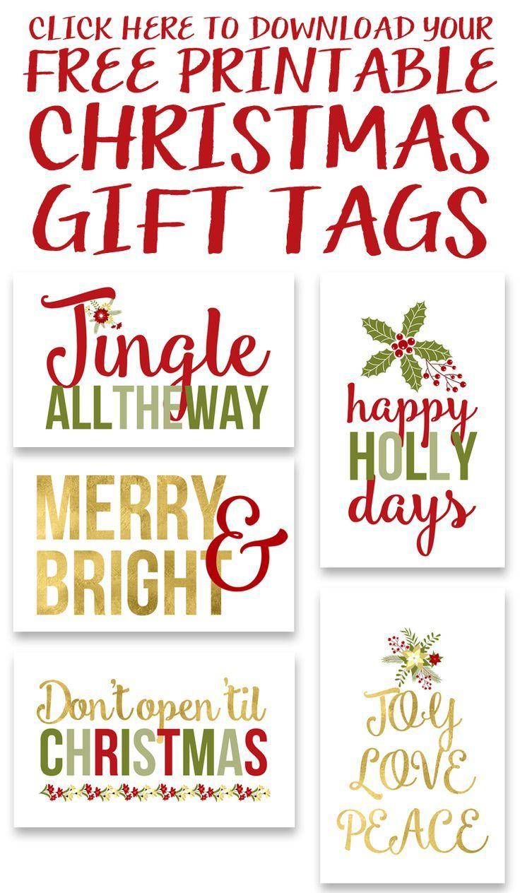 Free Printable Christmas Gift Tags | Free Printables & Downloads - Free Printable Christmas Tags
