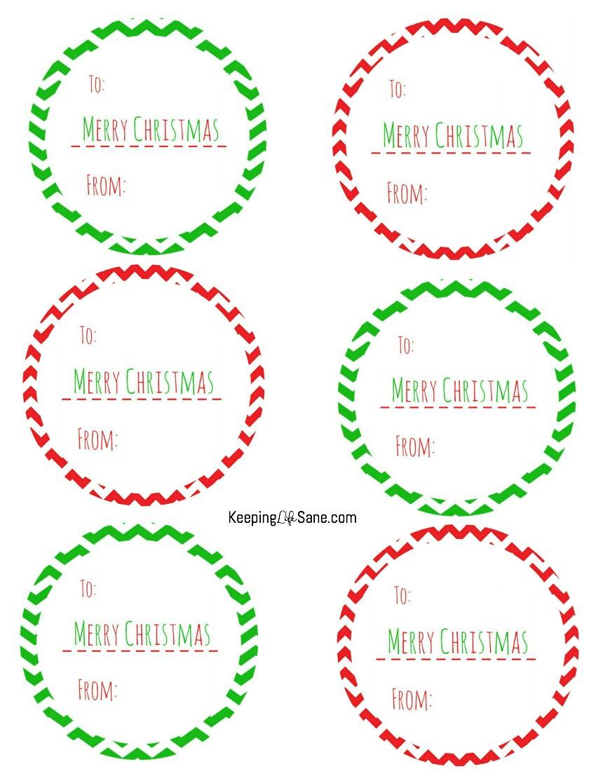 Free Printable Christmas Gift Tags - Keeping Life Sane - Free Printable Christmas Labels