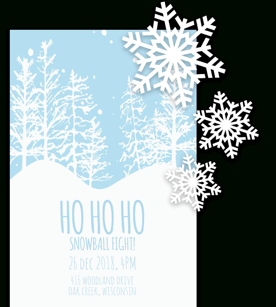 Free Printable Christmas Invitation Templates In Word! - Christmas Party Invitation Templates Free Printable