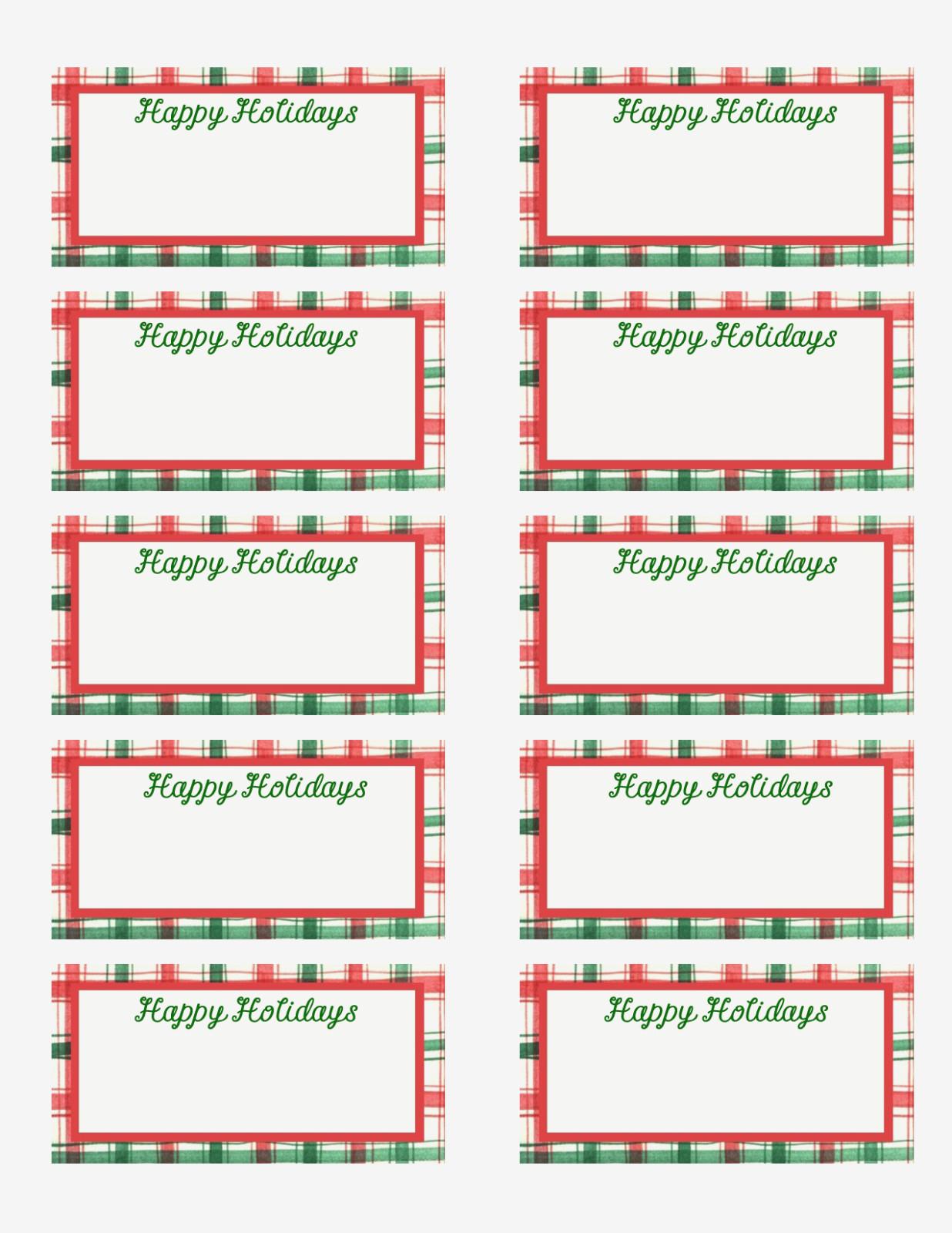 Free Printable Christmas Labels Template – Christmas Printables - Free Printable Holiday Labels