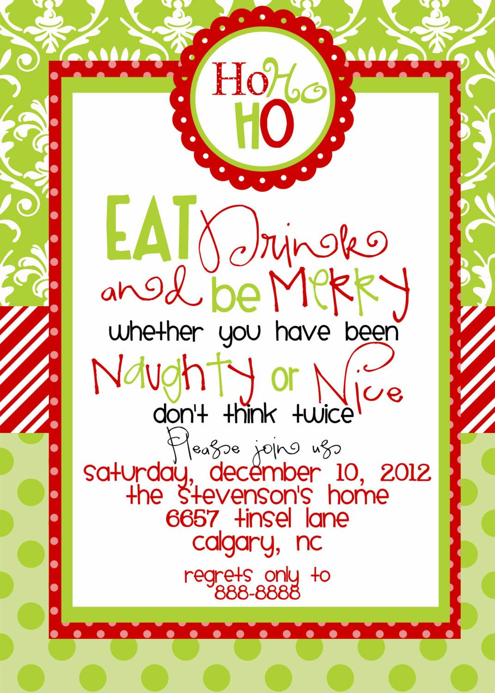 Free Printable Christmas Luncheon Invitations   Holiday Ideas - Free Printable Christmas Invitations
