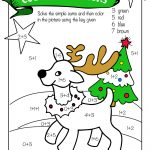 Free Printable Christmas Math Worksheets: Pre K, 1St Grade & 2Nd   Free Printable Math Coloring Worksheets For 2Nd Grade