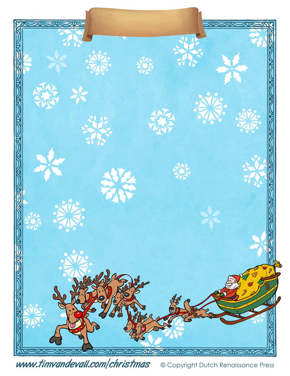 Free Printable Christmas Paper Templates - Free Printable Paper