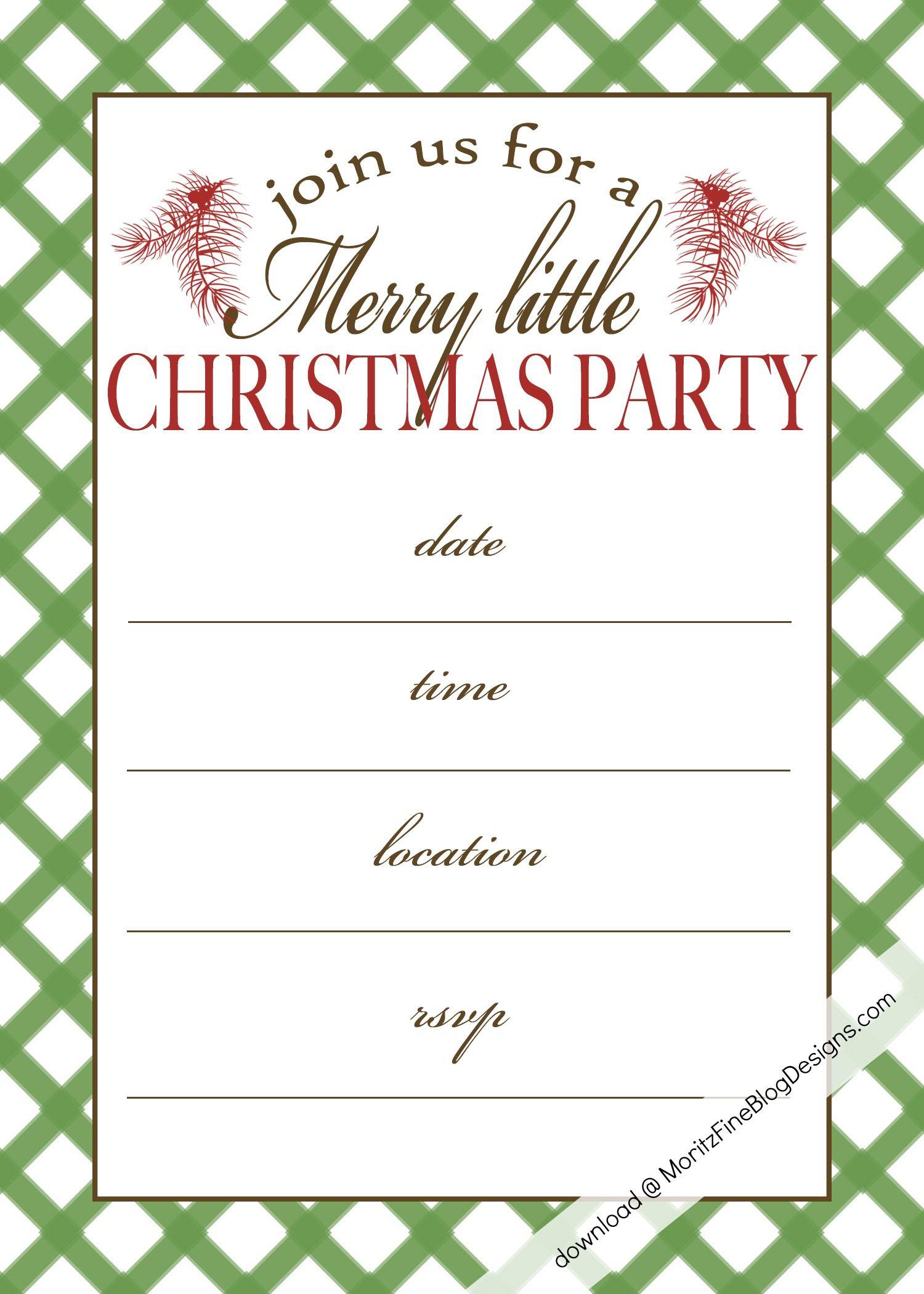 Free Printable Christmas Party Invitation | Christmas:print - Free Printable Christmas Party Invitations