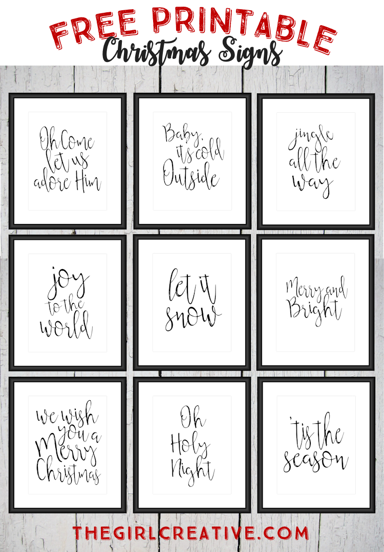 Free Printable Christmas Signs | Noël, Joyeux Noël Et Joyeux - Free Printable Signs