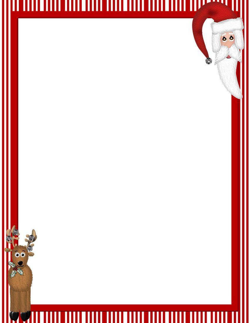 Free Printable Christmas Stationary Borders   Christmasstationery - Free Printable Stationary Borders