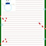 Free Printable Christmas Stationary | Stationary | Christmas   Free Printable Snowman Stationery