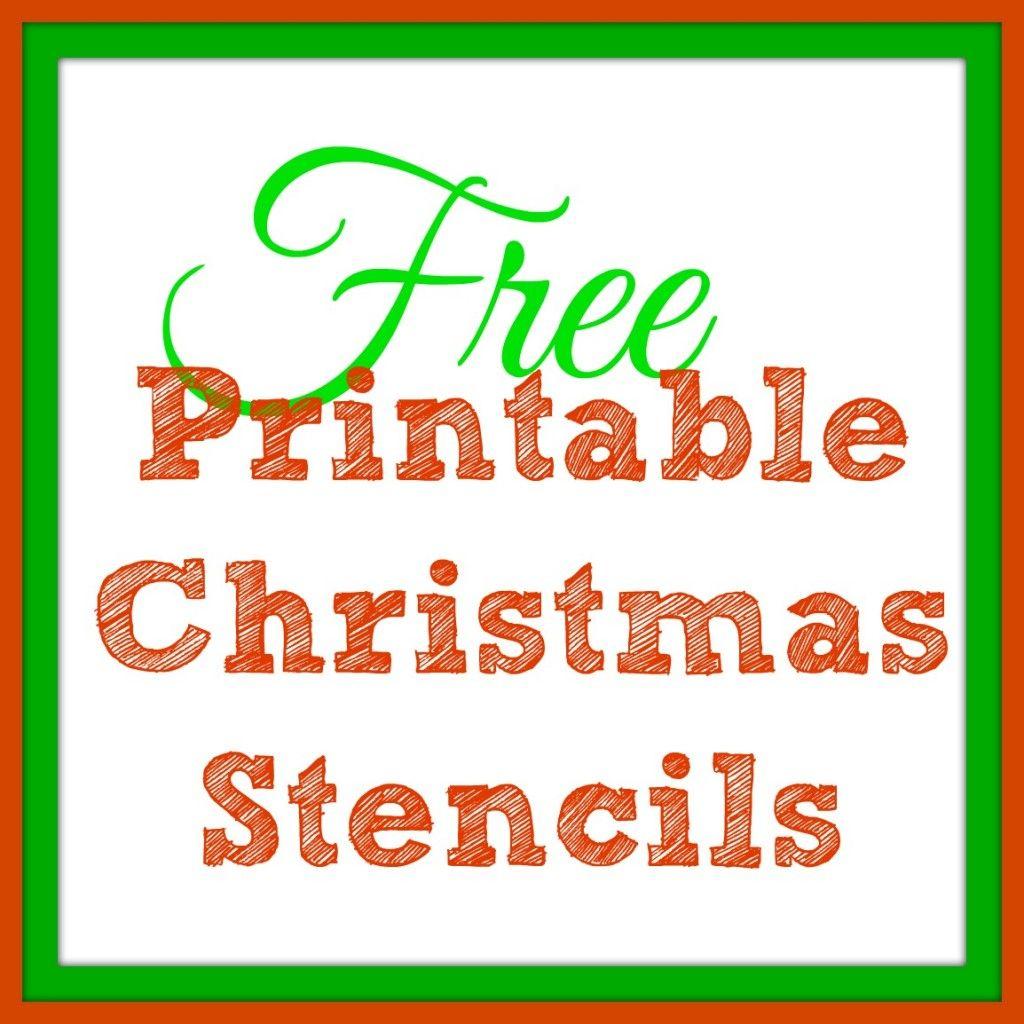 Free Printable Christmas Stencils – Christmas Tree Templates & Santa - Free Printable Christmas Iron On Transfers