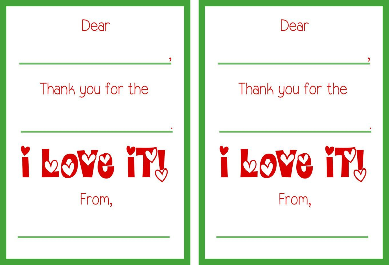 Free Printable Christmas Thank You Cards | Gift Ideas | Thank You - Christmas Thank You Cards Printable Free