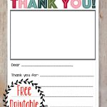 Free Printable Christmas Thank You Note For Kids! | Printables   Free Christmas Thank You Notes Printable