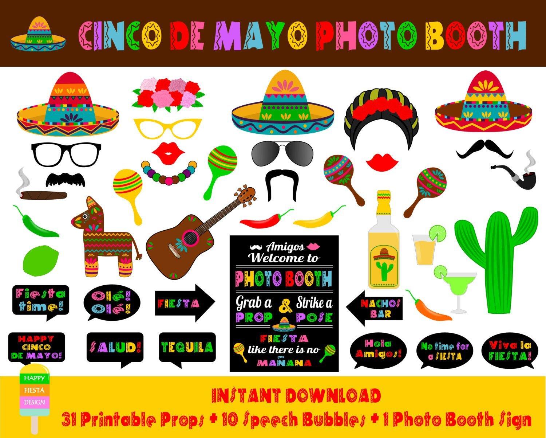Free Printable Cinco De Mayo Photo Booth Props – Orek - Free Printable Cinco De Mayo Photo Booth Props