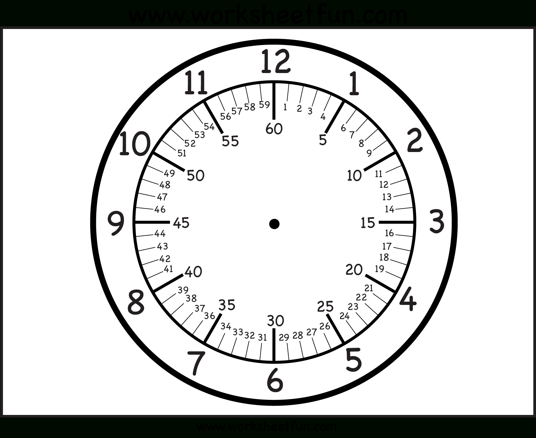 Free Printable Clock Faces - With Minutes | Firstgradefaculty - Free Printable Clock Faces