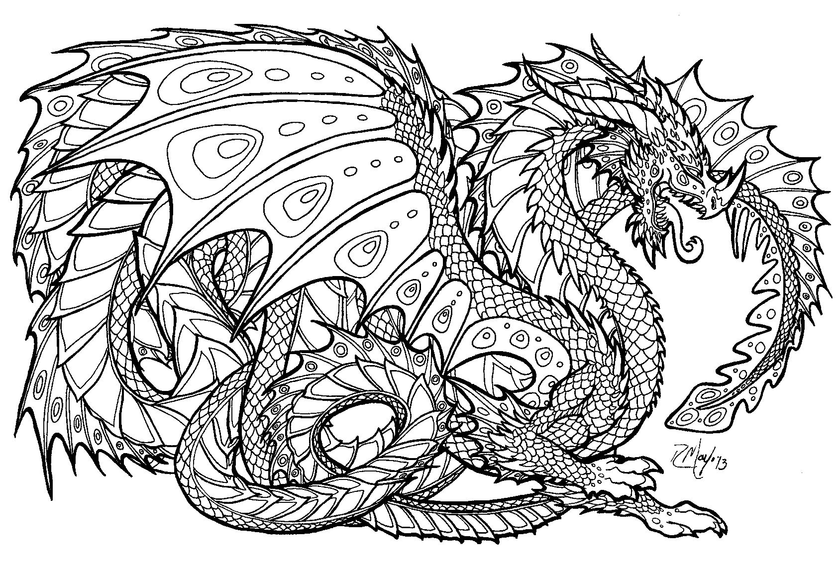 Free Printable Coloring Pages For Adults Advanced Dragons - Google - Free Printable Coloring Pages For Adults Advanced