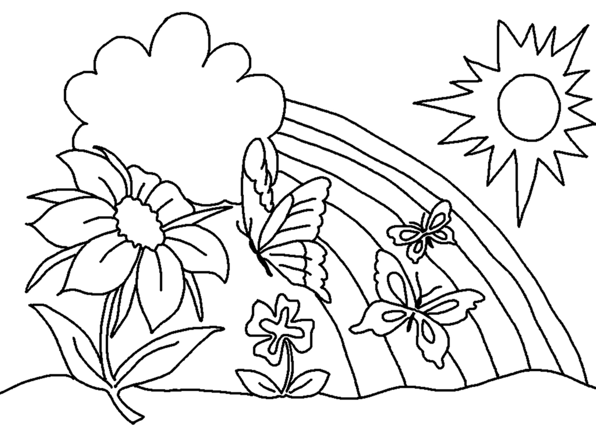 Free Printable Coloring Pages For Preschoolers – With Girls Also - Free Printable Flower Coloring Pages