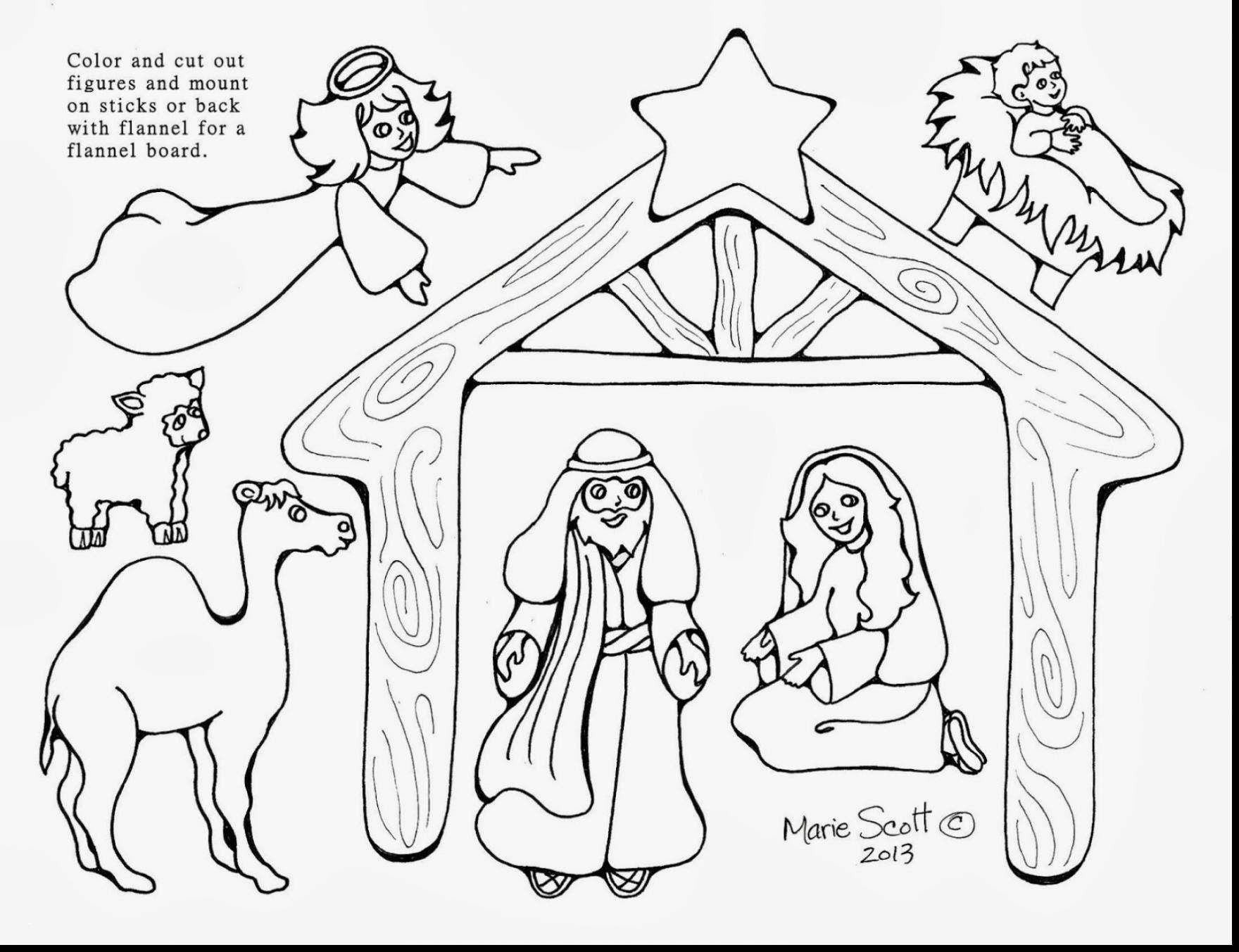 Free Printable Coloring Pages Of Nativity Scene Printable Coloring - Free Printable Nativity Scene Pictures