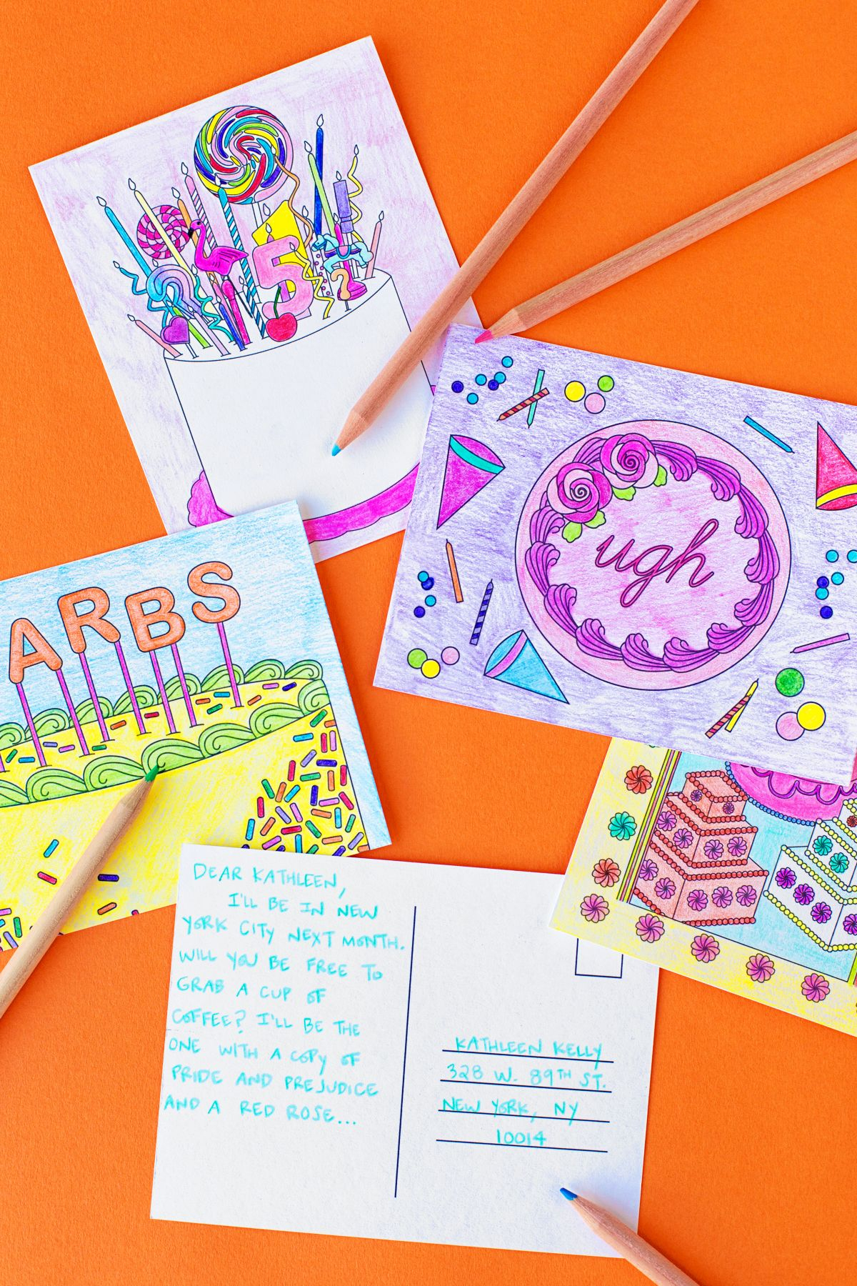 Free Printable Coloring Postcards   Cards And Invitations   Free - Free Printable Postcards
