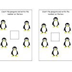 Free Printable   Counting Penguins Mini Worksheet | Free Printable   Free Printable Penguin Books