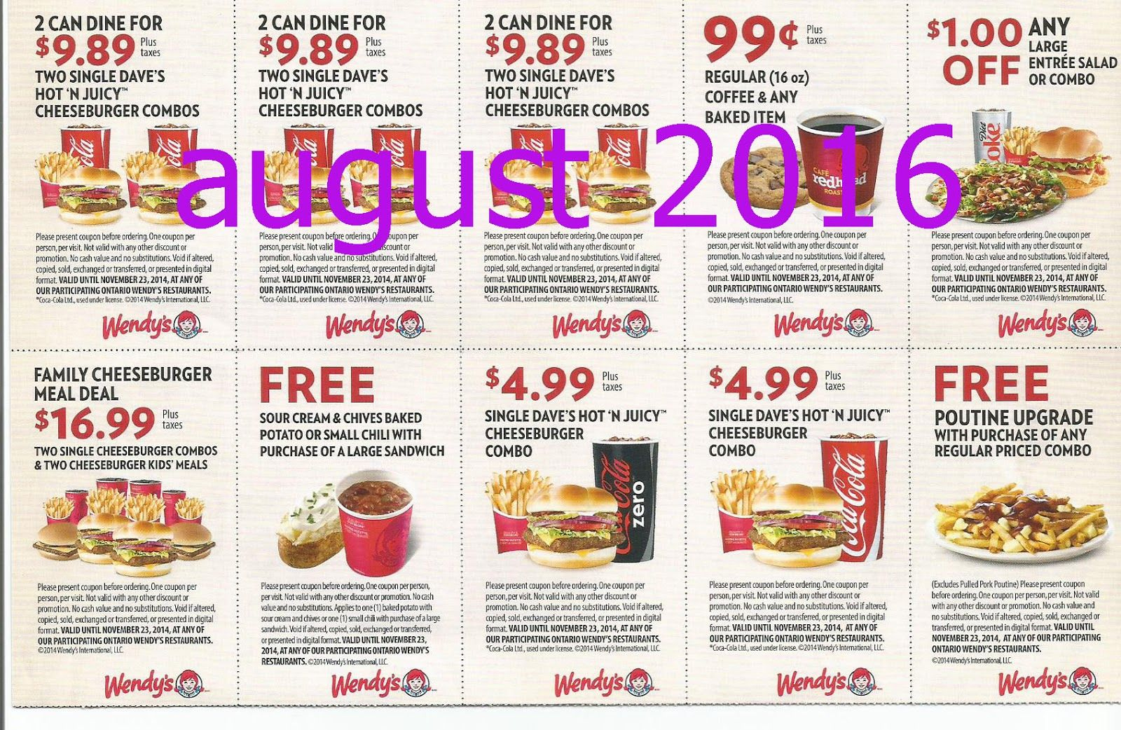 Free Printable Coupons: Wendys Coupons | Fast Food Coupons - Free Printable Coupons 2014