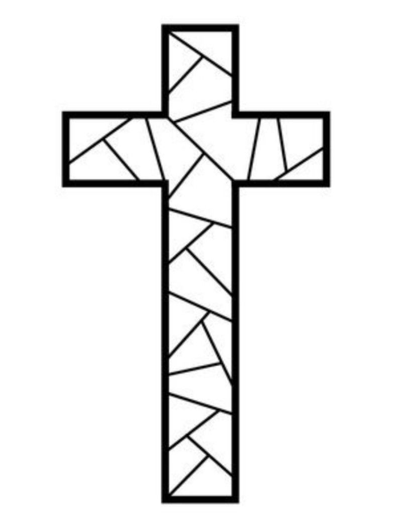 Free Printable Cross Coloring Pages | Coloring Pages | Stain Glass - Free Printable Religious Easter Bookmarks
