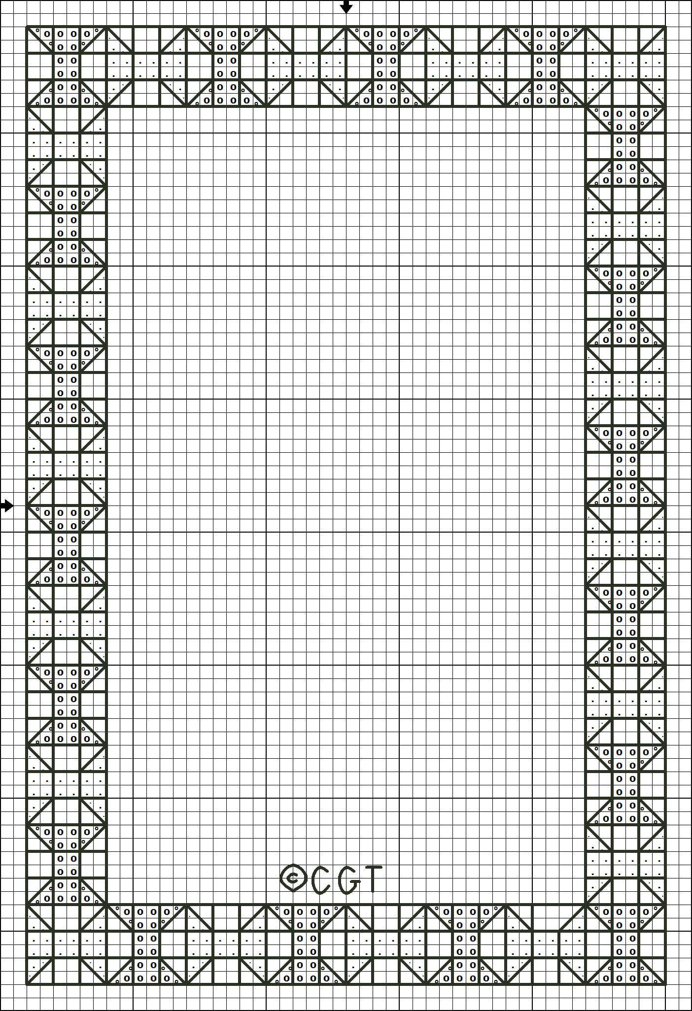 Free Printable Cross Stitch Patterns |  Cross Stitch Border - Free Printable Cross Patterns