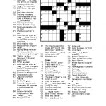 Free Printable Crossword Puzzles For Adults | Puzzles Word Searches   Free Printable Crossword Puzzles