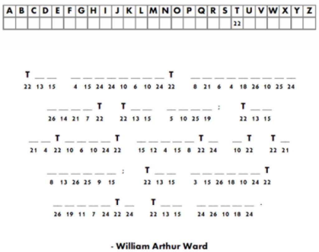 Free Printable Cryptograms For Adults   Www.topsimages - Free Printable Cryptograms With Answers