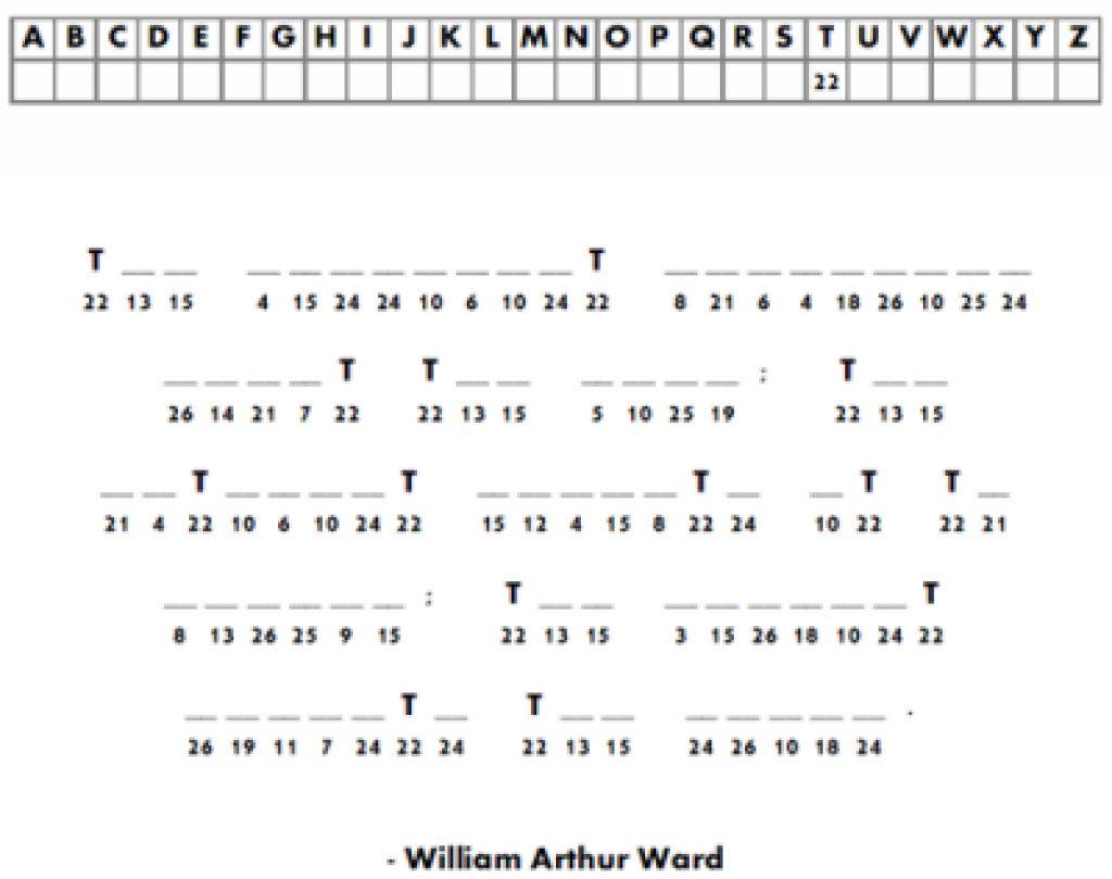 Free Printable Cryptograms   Free Printable - Free Printable Cryptograms Pdf