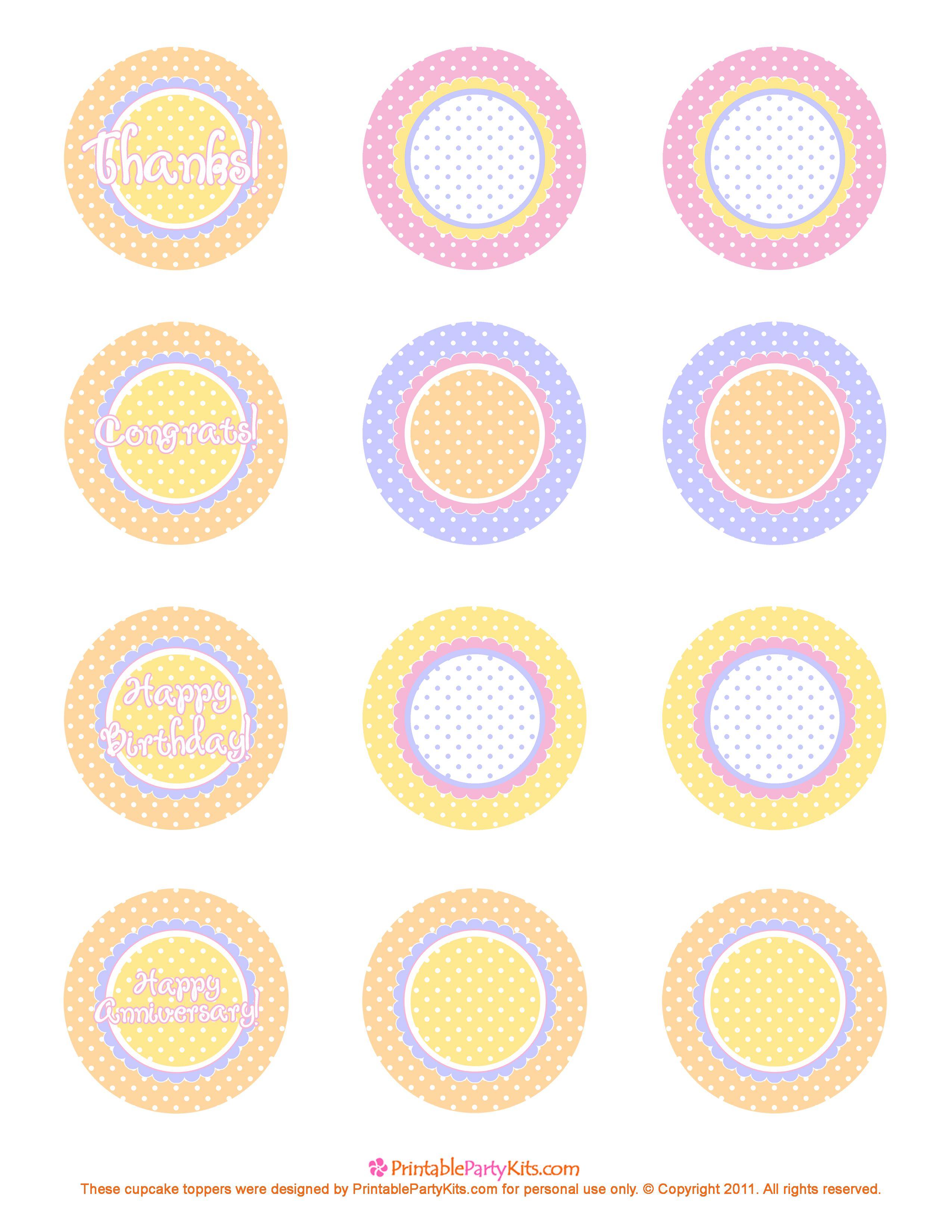 Free Printable Cupcake Toppers | Printable Labels And Tags - Free Printable Whale Cupcake Toppers